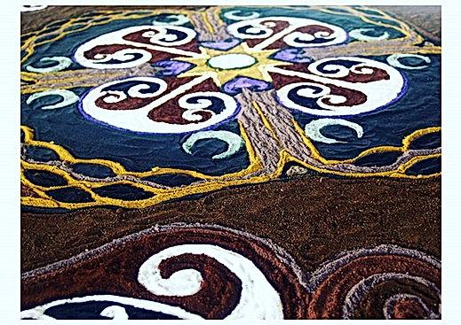 Art Installation soils, sands & stone d