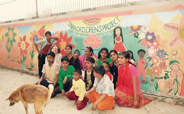 <In.scribe> Tara Children's Project Mural                    Bihar / India / 2017