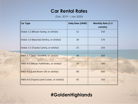 Car Rental - new prices for Dec/Jan!