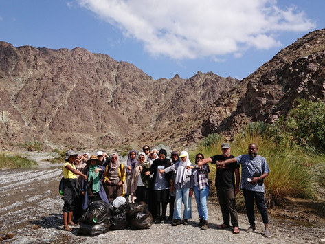 Wadi clean-up organised by GUtech students   10 February 2019
