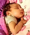 Sleeping baby with blanket