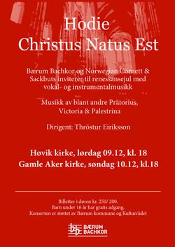 Julekonsert plakat