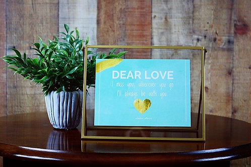 Framed Dear Love Card
