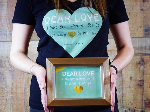 Gift Combo! Dear Love T-Shirt & Framed Card
