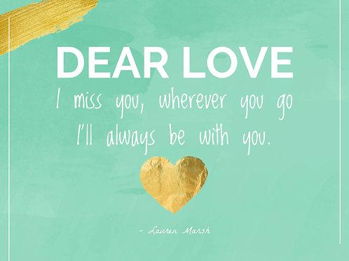 Dear Love Postcard
