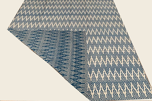 KILIM DOUBLE FACE BLUE 2,50 x 2,00