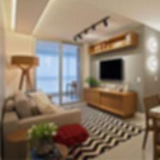 Uma linda sala de estar repleta de detal