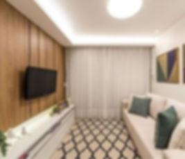 Sala projetada por Débora Diniz • Decora