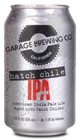 Garage Brewing Co can of Hatch Chie IPA. Brewed in Temecula, CA