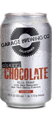 Garage Brewing Co can of Cherry Chocolate Milk Stout. Brewed in Temecula, CA