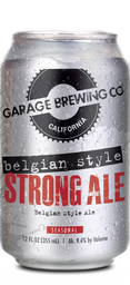 Garage Brewing Co can of Belgian Style Strong Ale. Brewed in Temecula, CA