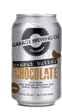 Garage Brewing Co can of Peanut Butter Chocolate Milk Stout. Brewed in Temecula, CA