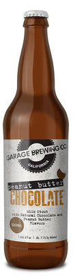 Garage Brewing Co bottle of Peanut Butter Chocolate Milk Stout. Brewed in Temecula, CA