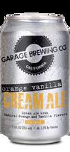 Orange Vanilla Cream can of Orange Vanilla Cream Ale. Brewed in Temecula, CA