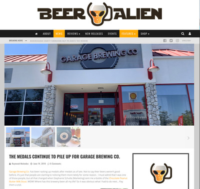 Beer Alien article about Garage Brewing Co