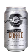 Garage Brewing Co can of Cold Brew Coffee. Brewed in Temecula, CA