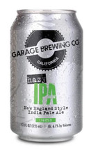 Garage Brewing Co can of Hazy IPA. Brewed in Temecula, CA