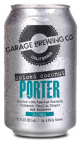 Garage Brewing Co can of Spiced Coconut Porter. Brewed in Temecula, CA
