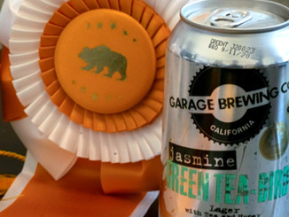 Garage Brewing Co Award for Jasmine Green Tea-Bird Lager
