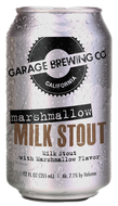 Garage Brewing Co can of Marshmallow Milk Stout. Brewed in Temecula, CA