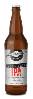 Garage Brewing Co bottle of Hatch Chie IPA. Brewed in Temecula, CA