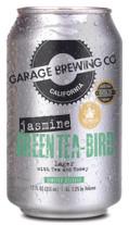 Garage Brewing Co can of Jasmine Green Tea-Bird. Brewed in Temecula, CA