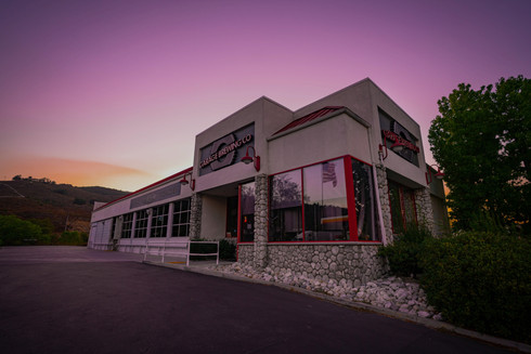 Sunset over Garage Brewing Co in Temecula, CA