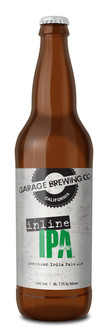 Garage Brewing Co bottle of Inline IPA. Brewed in Temecula, CA