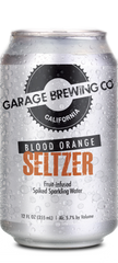 Garage Brewing Co can of Blood Orange Seltzer. Made in Temecula, CA