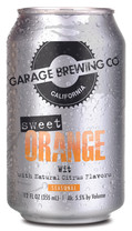 Garage Brewing Co can of Sweet Orange Wit. Brewed in Temecula, CA