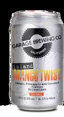 Garage Brewing Co can of Island Mango Twist. Brewed in Temecula, CA