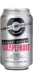 Garage Brewing Co can of Grapefruit Deuce Coupe Double IPA. Brewed in Temecula, CA