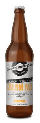 Orange Vanilla Cream bottle of Orange Vanilla Cream Ale. Brewed in Temecula, CA
