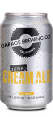 Garage Brewing Co can of Honey Cream Ale. Brewed in Temecula, CA