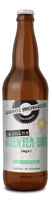 Garage Brewing Co Jasmine Green Tea-Bird Lager