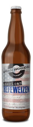 Garage Brewing Co bottle of American Hefeweizen. Brewed in Temecula, CA