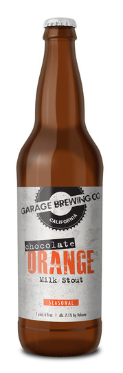 Garage Brewing Co Chocolate Orange Milk Stout