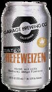 Garage Brewing Co can of Mango Hefeweizen. Brewed in Temecula, CA