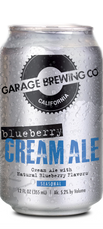 Garage Brewing Co can of Blueberry Cream Ale. Brewed in Temecula, CA