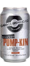 Garage Brewing Co can of Piston Pumpkin Spiced Porter. Brewed in Temecula, CA