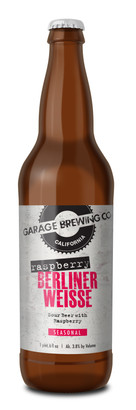 Garage Brewing Co bottle of Raspberry Berliner Weisse. Brewed in Temecula, CA