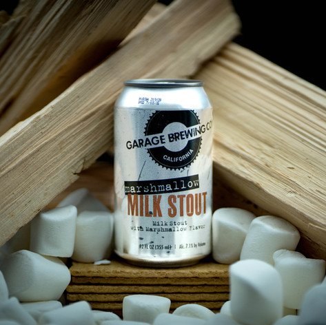 Marshmallow Milk Stout from Garage Brewing Co in Temecula, CA