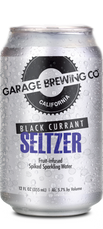 Garage Brewing Co can of Black Currant Seltzer. Made in Temecula, CA