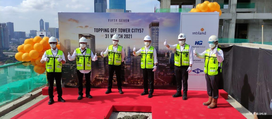 57 Promenade City tower topping-out ceremony