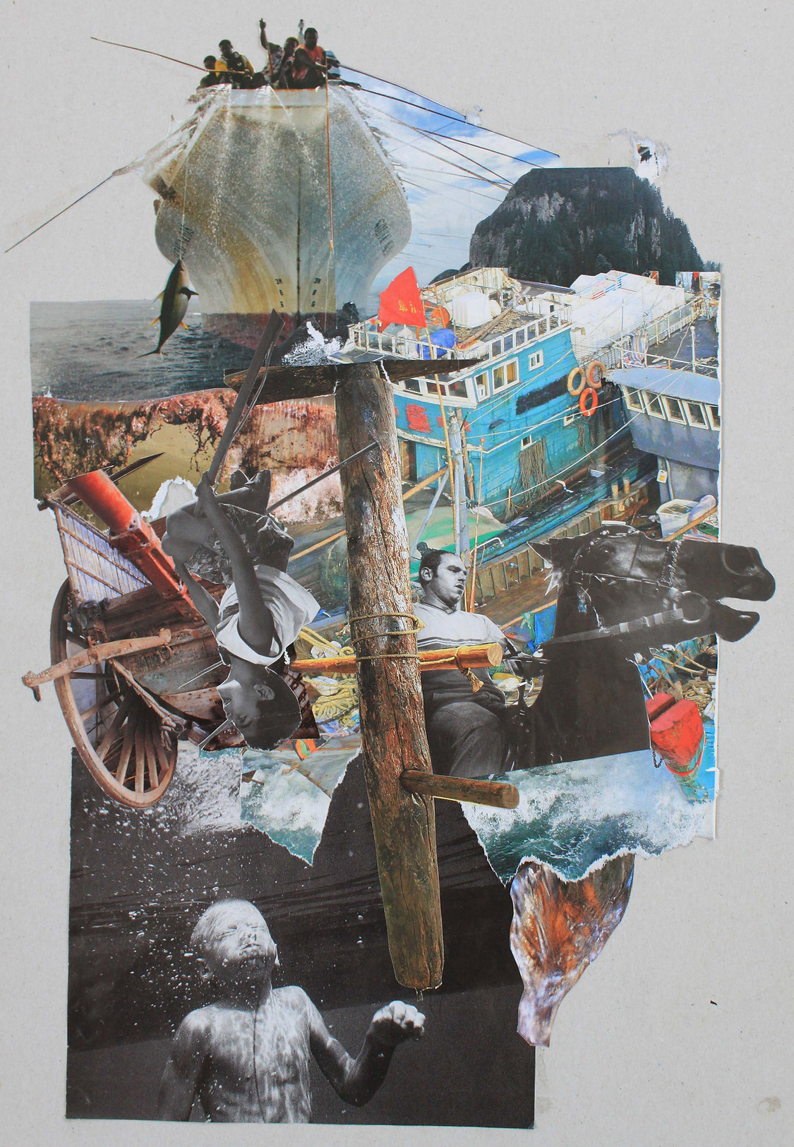 collage by Athens based artist Christine Murphy inspired by music