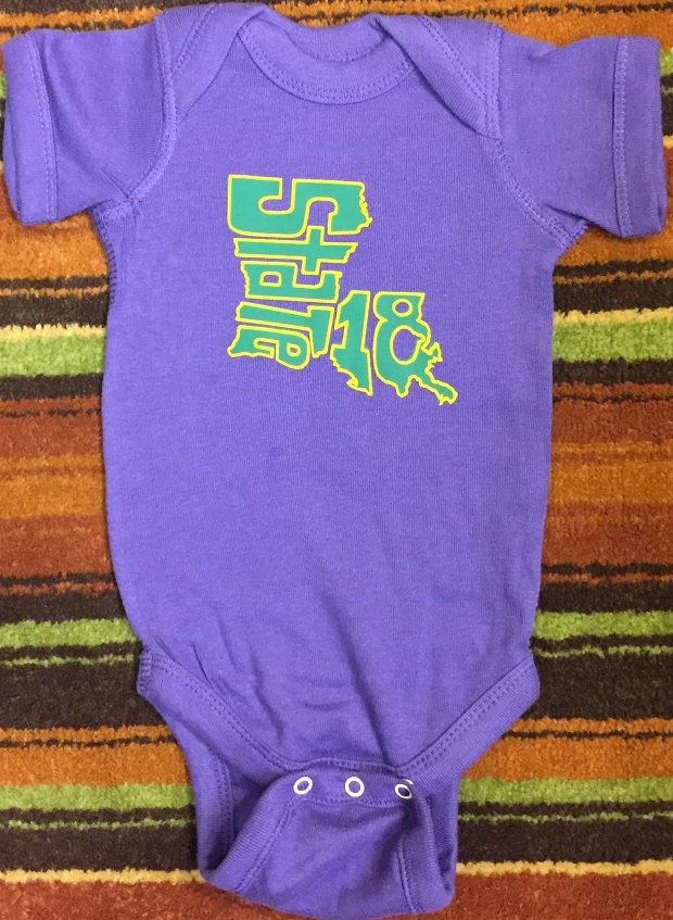 43e0f89c5 NEW - Mardi Gras Infant Onesie