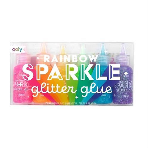 Rainbow sparkle glitterlim