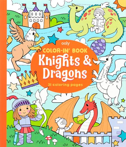 Målarbok Knights & Dragons