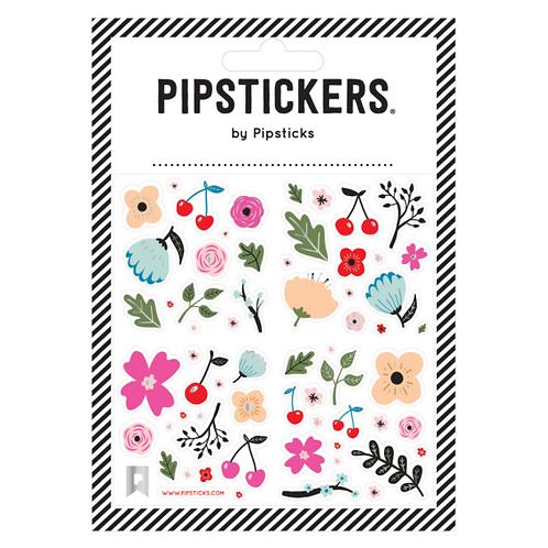 Klistermärke, Cherries & Flowers