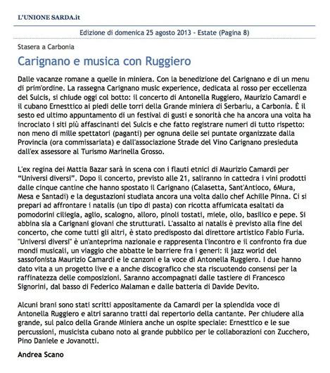 Carignano Music Experience (Unione Sarda)
